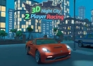 3D Night City: 2 Player Racing