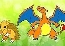 Colorea a Charizard y Sandslash