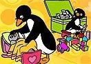 Colorea a Pingu con sus Juguetes