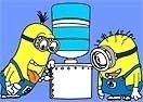 Colorear a Minions Bebiendo Agua