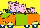 Colorear a Peppa Pig de Paseo