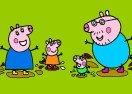 Colorear a Peppa Pig Jugando en Charcos