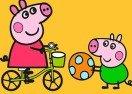 Colorear a Peppa Pig Jugando