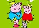 Colorear a Peppa Pig y a su Familia