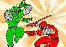 Colorear a Power Rangers en acción