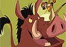 Colorear a Timón y Pumba