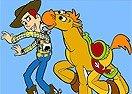 Colorear a Woody y Tiro al blanco