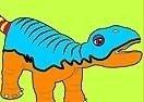 Colorear al Dinosaurio Bebé