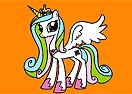 Colorear al Pony Celestia