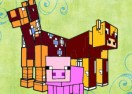 Colorear Animales Minecraft