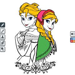Coloring Frozen Activities