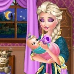 Elsa Baby Caring