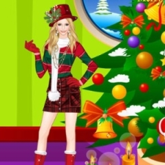 Helen Colorful Christmas Dress