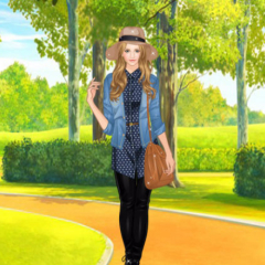 Helen Denim Blouses Dress Up