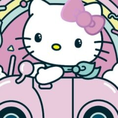 Hello Kitty Car Jigsaw