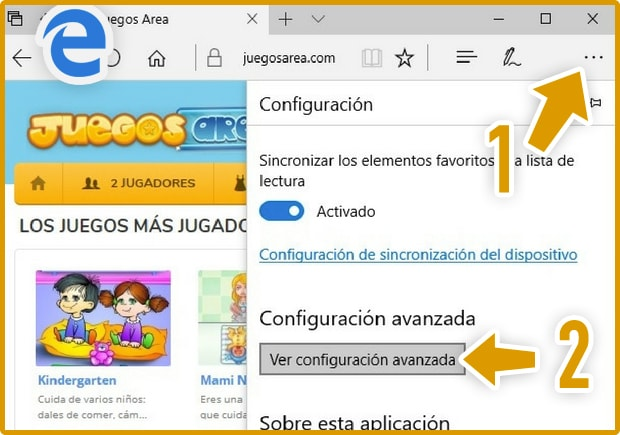 Activar Flash Player Microsoft Edge