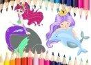 Mermaid Coloring Book Game