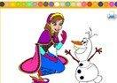 Pinta a Anna y Olaf