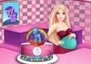 Pregnant Barbie Cooking Pony Cake