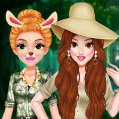 Princess Girls Safari Trip