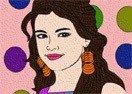 Selena Gomez Online Coloring
